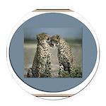 cheetah3.jpg Round Car Magnet