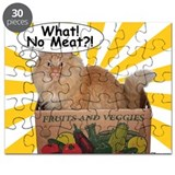 Hippy Kitty What! No Meat?! Puzzle
