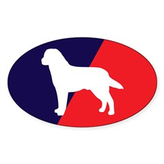 Red White Blue Lab Sticker (Oval)