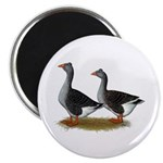"Tufted Toulouse Geese 2.25"" Magnet (100 pack)"
