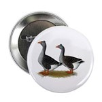 "Tufted Toulouse Geese 2.25"" Button (10 pack)"