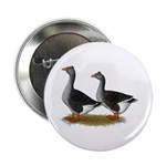 "Tufted Toulouse Geese 2.25"" Button"