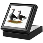 Tufted Toulouse Geese Keepsake Box