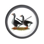 Tufted Toulouse Geese Wall Clock