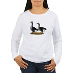 Tufted Toulouse Geese Women's Long Sleeve T-Shirt