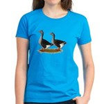 Tufted Toulouse Geese Women's Dark T-Shirt