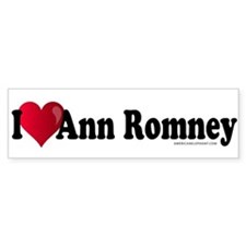 I Heart Ann Romney Bumper Sticker