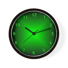 Green Glow Wall Clock