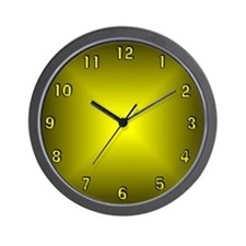 Yellow Glow Wall Clock