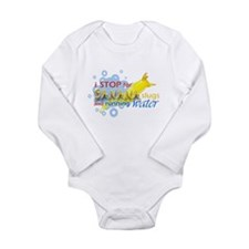 I Stop for Banana Slugs T-Shirt Long Sleeve Infant
