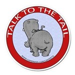 Hippo Talk To The Tail Round Car Magnet