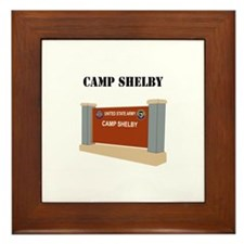 Camp Shelby with Text Framed Tile