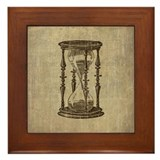 Vintage Hourglass Framed Tile