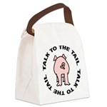 FIN-pig-talk-tail.png Canvas Lunch Bag