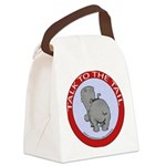 FIN-hippo-talk-tail-NEW.png Canvas Lunch Bag