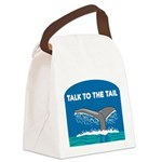 FIN-whale-talk-tail.png Canvas Lunch Bag