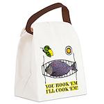 You Hook 'Em Fishing Canvas Lunch Bag