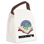 FIN-bookworm.png Canvas Lunch Bag