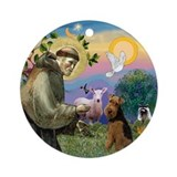 Saint Francis & Welsh Terrier Ornament (Round)