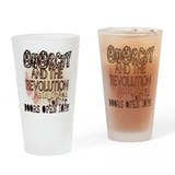 Vintage_Chick Revolution Drinking Glass