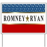 Romney Ryan 2012 Star Yard Sign