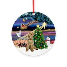 Xmas Magic & Lakeland Terrier Ornament (Round)
