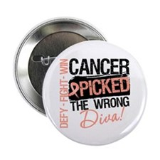 "Cancer Wrong Diva 2.25"" Button (100 pack)"