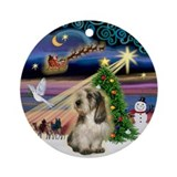 xmas Magic & PBGV Ornament (Round)