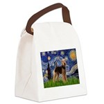 Starry Night - Airedale #6 Canvas Lunch Bag