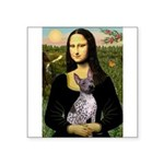 MonaLisa - AmHairless T. Square Sticker 3