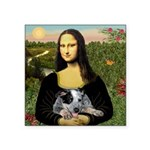 MonaLisa-AussieCattle Pup Square Sticker 3