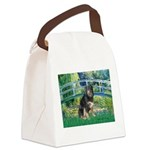Bridge-Aussie Shep - Tri (L) Canvas Lunch Bag