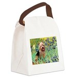 Irises - Aussie Terrier Canvas Lunch Bag