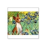 Basenji in Irises Square Sticker 3