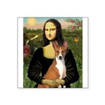 Mona Lisa - Basenji Square Sticker 3