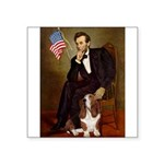 Lincoln / Basset Hound Square Sticker 3