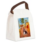 Room with a Basset Canvas Lunch Bag