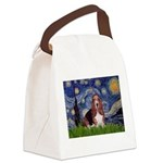 Starry / Basset Hound Canvas Lunch Bag