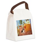 Van Gogh's Room & Basset Canvas Lunch Bag
