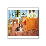 Van Gogh's Room & Basset Square Sticker 3