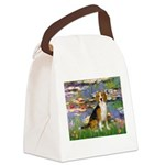 Lilies (#2) - Beagle #7 Canvas Lunch Bag