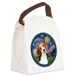 Starry Night Beagle #1 Canvas Lunch Bag
