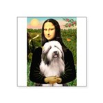Mona / Bearded Collie #1 Square Sticker 3
