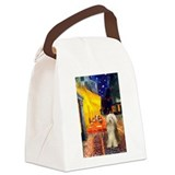 Cafe / Bearded Collie #16 Canvas Lunch Bag