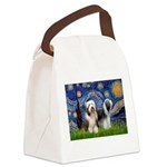 Starry / 2 Bearded Collies Canvas Lunch Bag