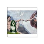Creation / Bearded Collie Square Sticker 3