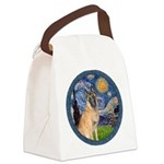 Starry/Belgian Malanois Canvas Lunch Bag