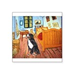 5.5x7.5Room-Bernese.png Square Sticker 3