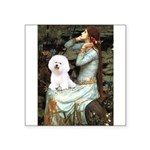 Ophelia & Bichon Square Sticker 3