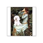 Ophelia & Bichon Square Sticker 3